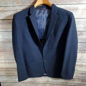 Tommy Hilfiger Sport coat blazer navy blue paisley